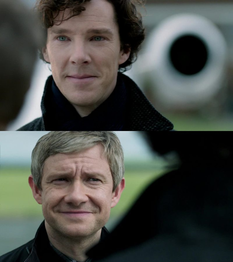 """sherlock's actually a girl's name"" actually means ""i love you john"""