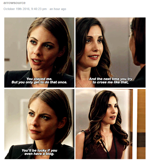 Thea Queen channeling her mother Moira >:))))