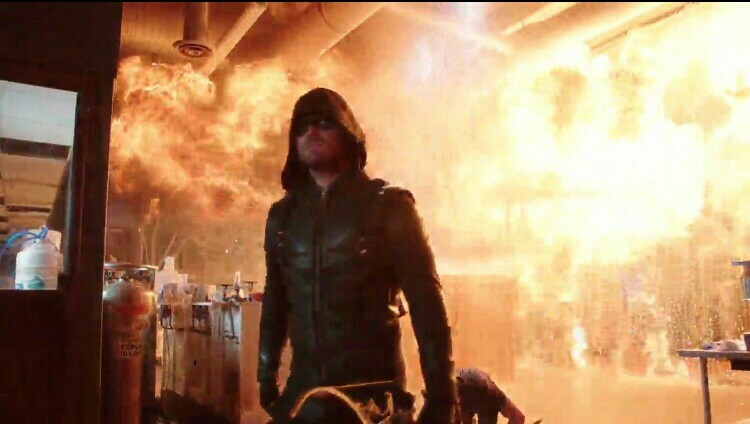That moment when Oliver was doing his victory walk....😎😎😎