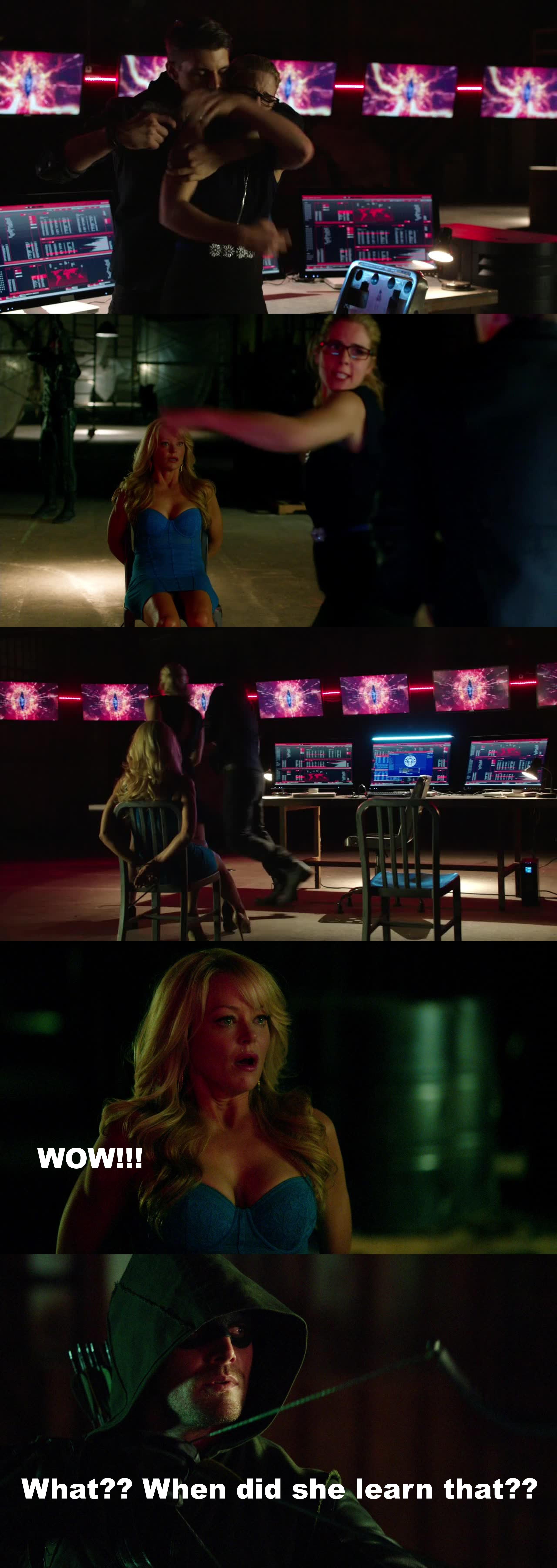 Their reactions on kickass Felicity XD