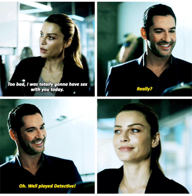 Favorite scene from this episode. Loved how proud Lucifer was that she fooled him. 😂😍