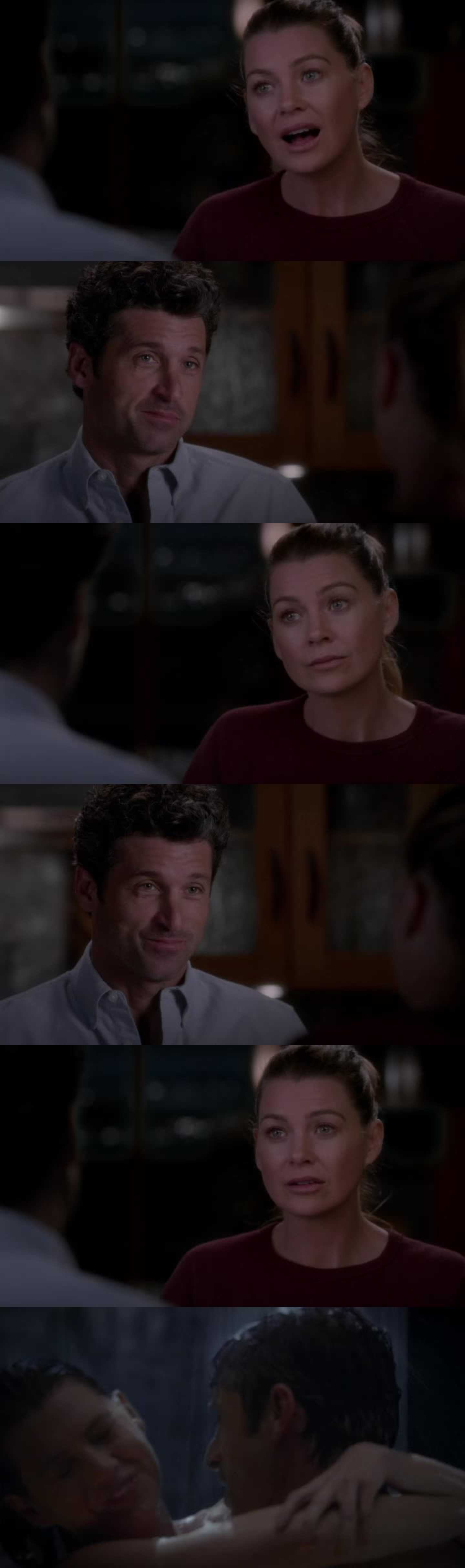 - I need a break from you, from the fighting, from the pot roast, because the table isn't set. The candles aren't lit. The guest are gonna arrive in 30 minutes. I still need to take a shower. I need a timeout. Don't look at me like that.   - I could use a shower, too.