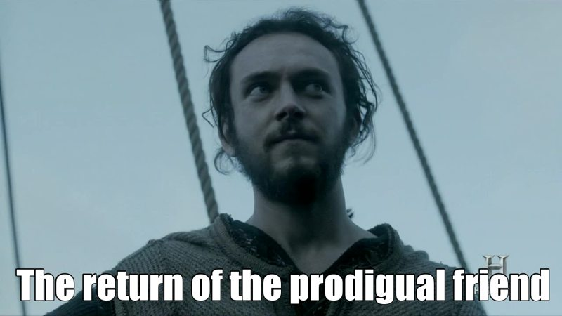 I'm so happy Athelstan came back among Vikinks, he belongs to them.