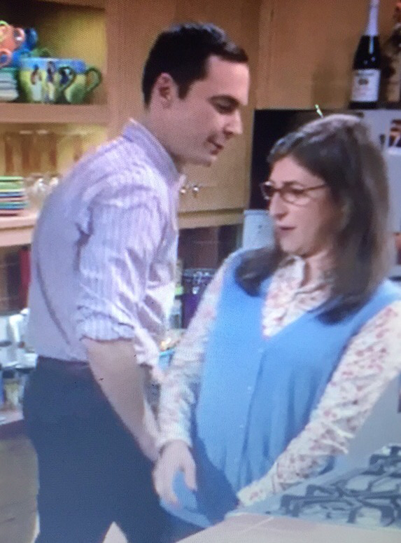sheldon :  don't get me all randy guests are on the way  * slapped her ass * 😂😂  so cute my shamy 💕