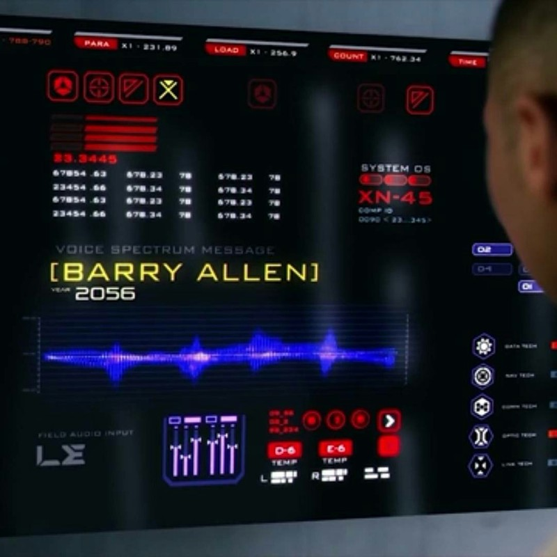 I think the Barry message has something to do with the Reverse Flash