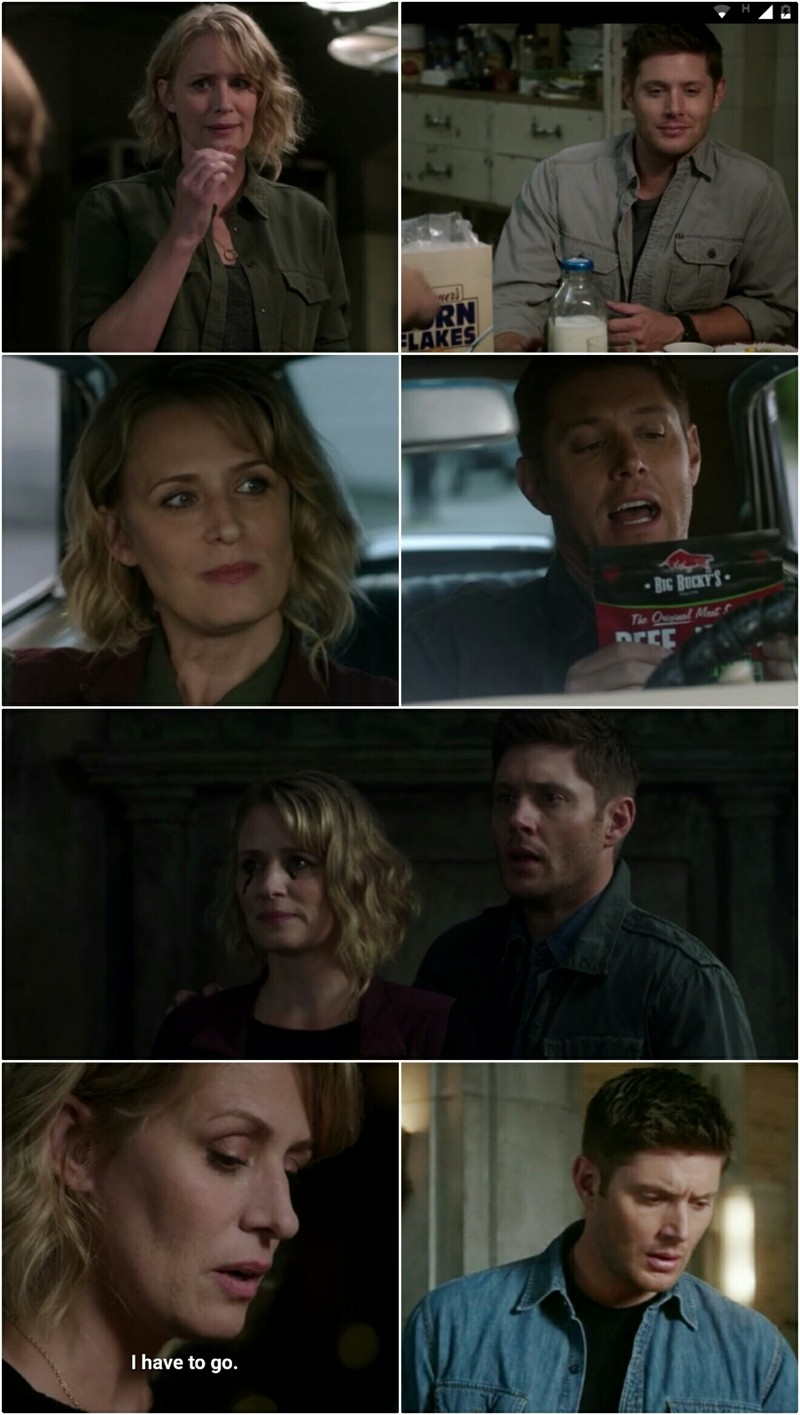Poor Dean, he was so happy with his mother there :(