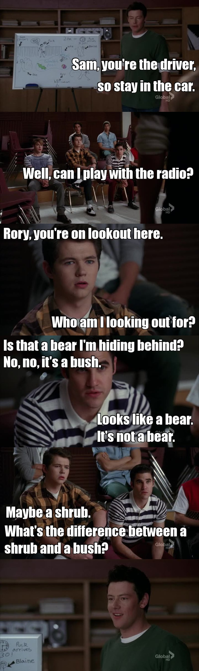 Can't stop laughing for this scene 😂😂😂 Aw Blaine, I love you 😍😍