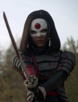 Masako becomes the first woman to defend her village as Katana and eventually the blade and identity would pass down to her descendant Tatsu. ♥️