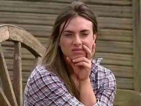 E a garota voltando sem fazer nada a respeito da Meredith?