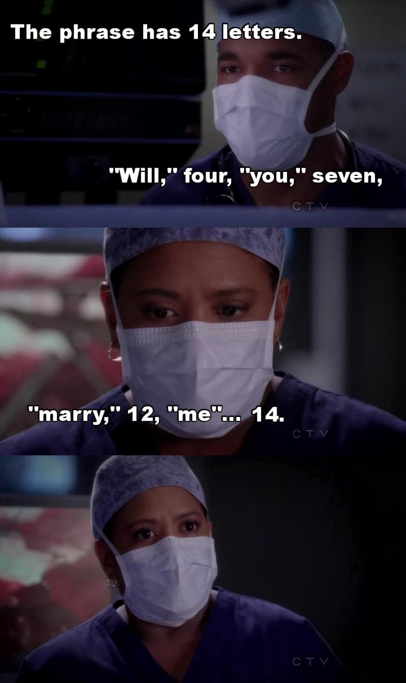 Best proposal! (With Derek's proposal, obv)