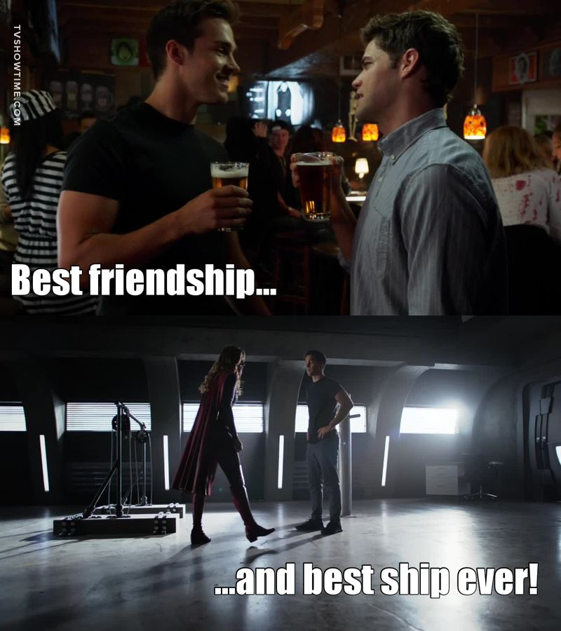 Winn & Mon-El... best friendship ever!! 😂😂😂 And Mon-El and Kara.... the BEST SHIP EVER!!!