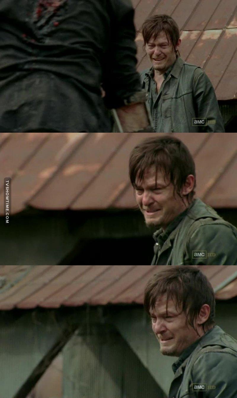 When Daryl cries, everyone cries