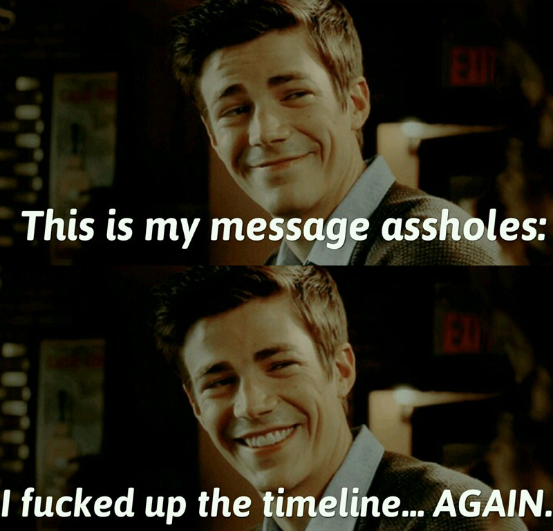 Probably Barry Allen's message: