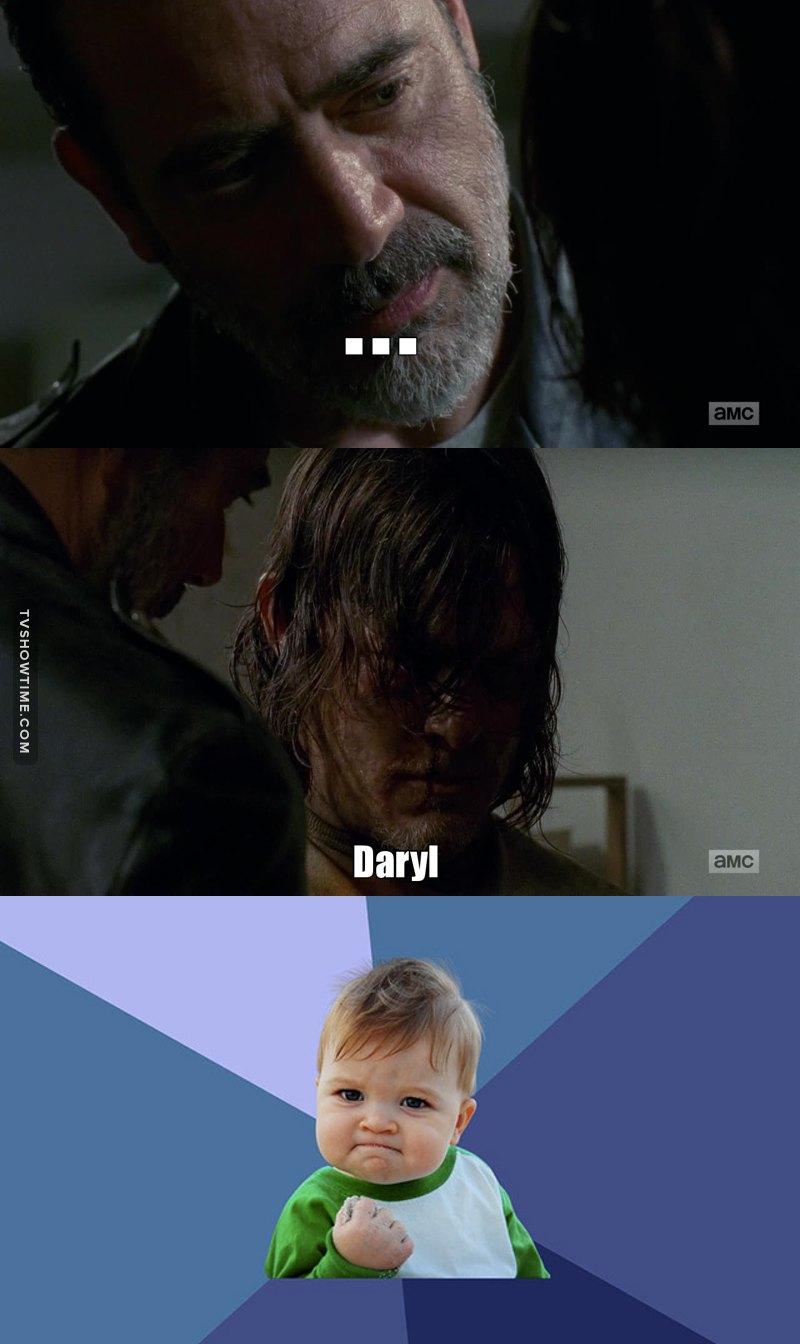 When he said Daryl...