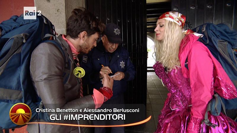 Cristina Benetton e Alessandro Berlusconi #gliimprenditori 😂😂😂