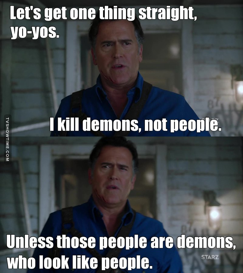 I know a lot of people that look like demons. 👹