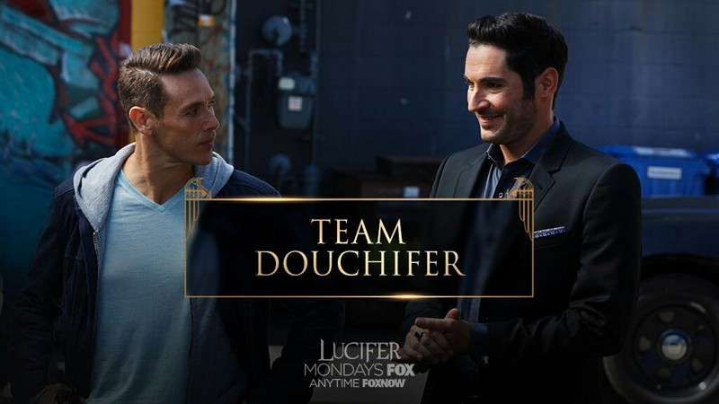 Such an amazing episode!  Loved the scenes between Lucifer and Detective Douche!💖  Hilarious Especially how first Lucifer is trying to imitate Douche to learn from him and the detective hates it but then Douche does an improv of Lucifer. Then, the bath scene was freaking funny.  Also, can't help but love the different names Douchifer, Dan 2!💖💕😍