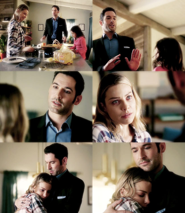 awwwwwww this moment .. so much like they used to act in S1 .. what Lucifer said to her at the end was exactly what she needed to hear.. Lucifer just be yourself 😍😍😍😍😍