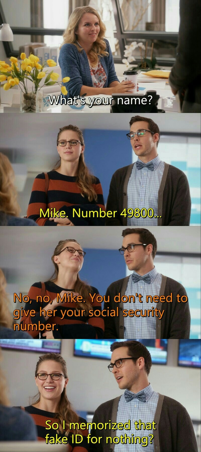 😂😂😂 Mon-El is my new favorite character!!!