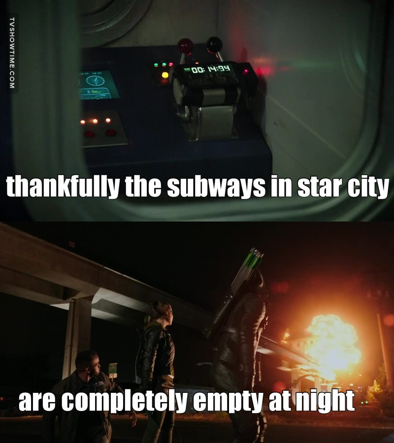 Otherwise there would have been a lot of casualties. But wait... Did Oliver check to see if there was anyone else on that train?