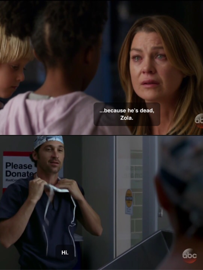 And when I thought Derek's death could not hurt any more... 💔