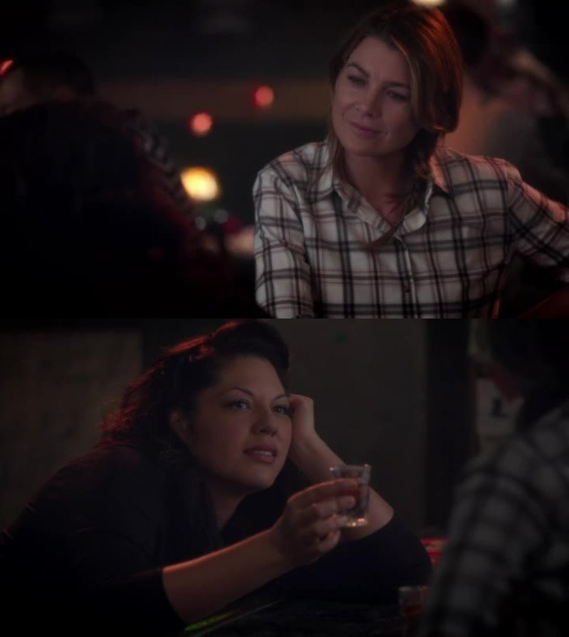 Lovely scene between Meredith and Callie. I love their friendship.