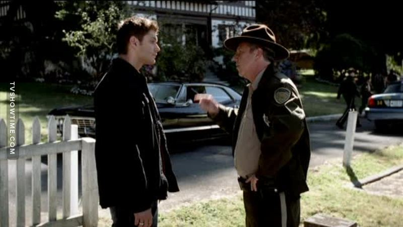 Sheriff: Listen, you and your brother Dean: Don't you worry. We are leaving Ahahahah so funny