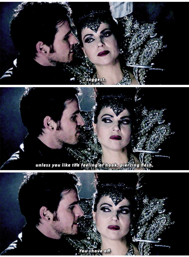 Killian threatening the Evil Queen with his Hook was the best.