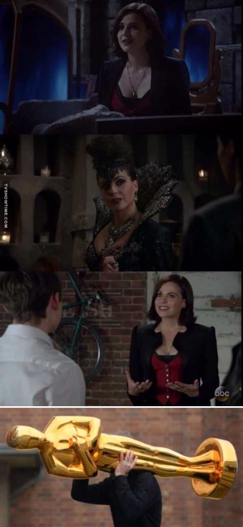 Lana Maria Parrilla playing Regina, The Evil Queen and The Evil Queen pretending to be Regina! 👏🏻