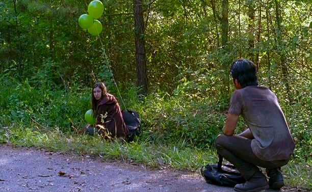 The green balloons were a little tribute to Glenn 💔