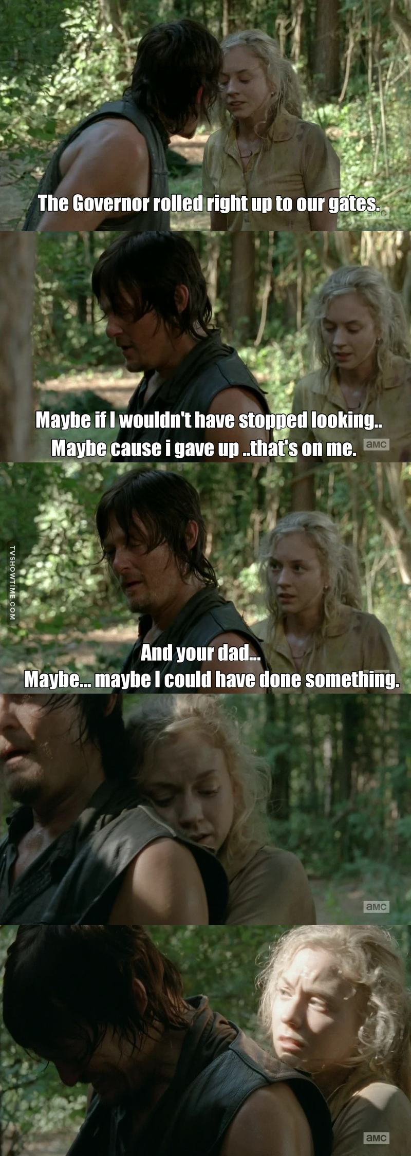 aww my babe daryl he's so sad about what happened in the prison 😭💔 btw it was best episode ever 💘💘