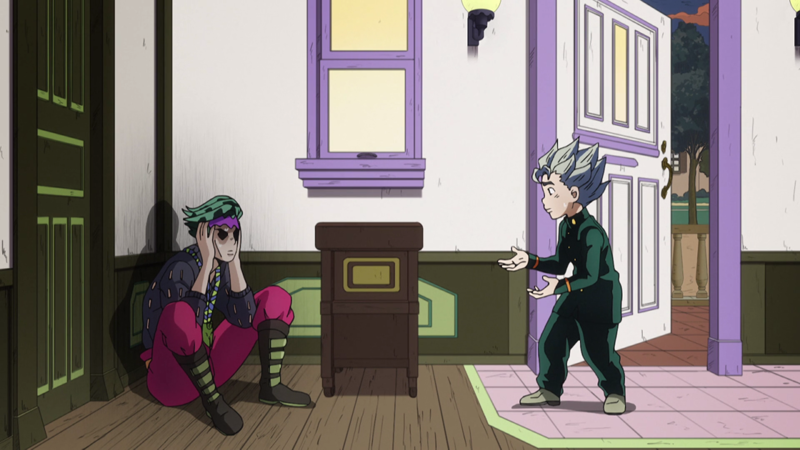 It was the funniest thing seeing Kishibe Rohan sitting like that in a corner of his house, looking all gloomy while waiting for Koichi to save him from the worst crisis of his life.