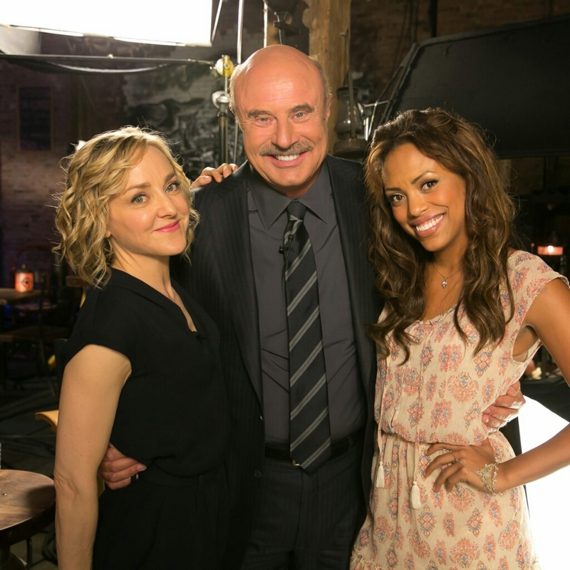 "Dr. Phil ‏@DrPhil:  ""#BehindTheScenes with the talented actresses of @bullcbs! Don't miss the new episode tonight!"""