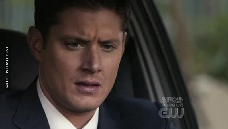 "I made the same face when Dean thought ""Hell no"" about the rock song on the radio."