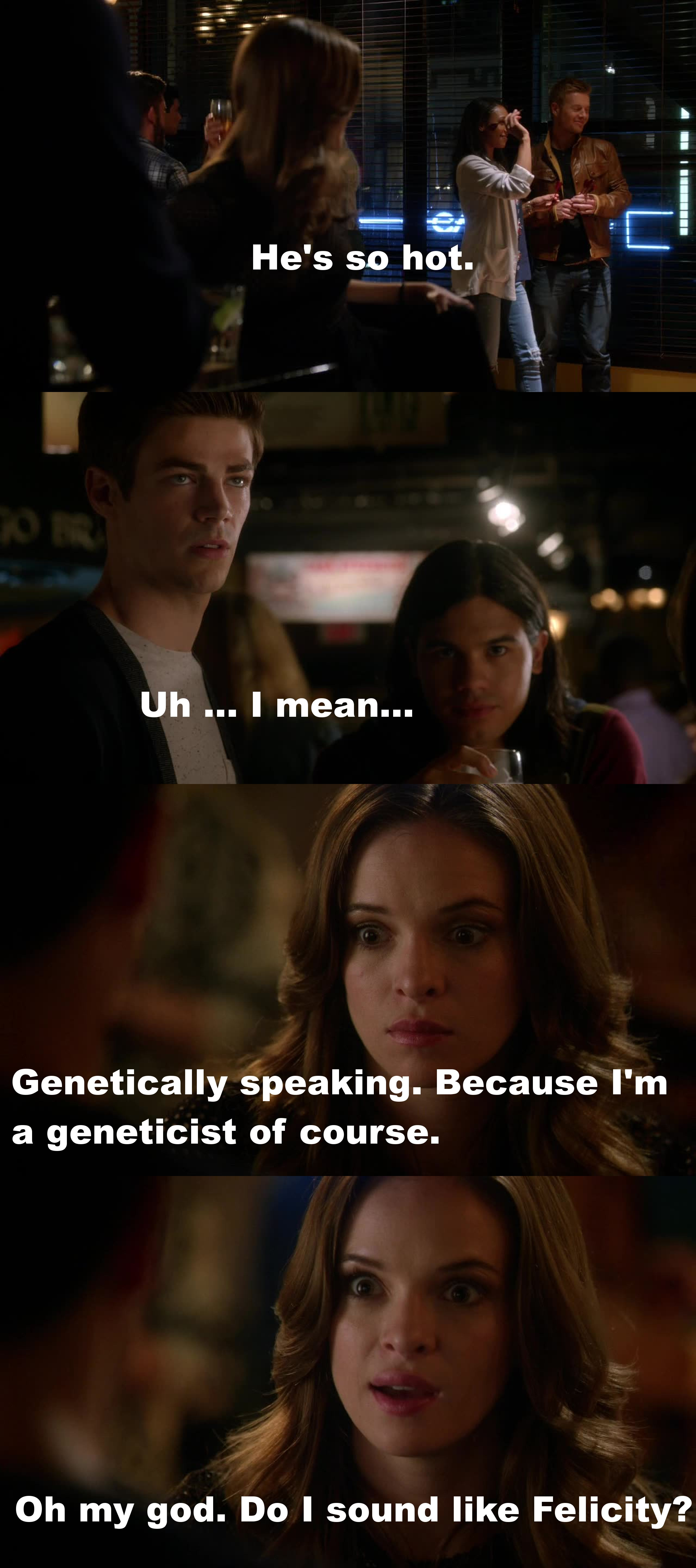 Well, yeah you did. Kind of ... Felicity does it better ;)