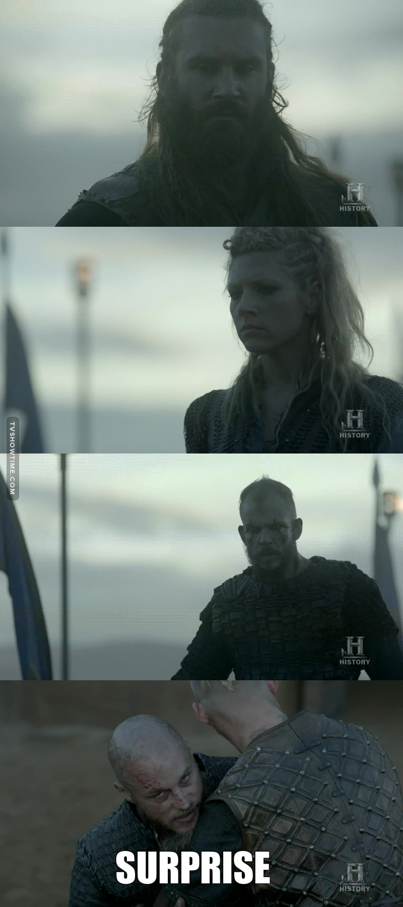 What a scene! Now Ragnar knows the secret of each one of them.