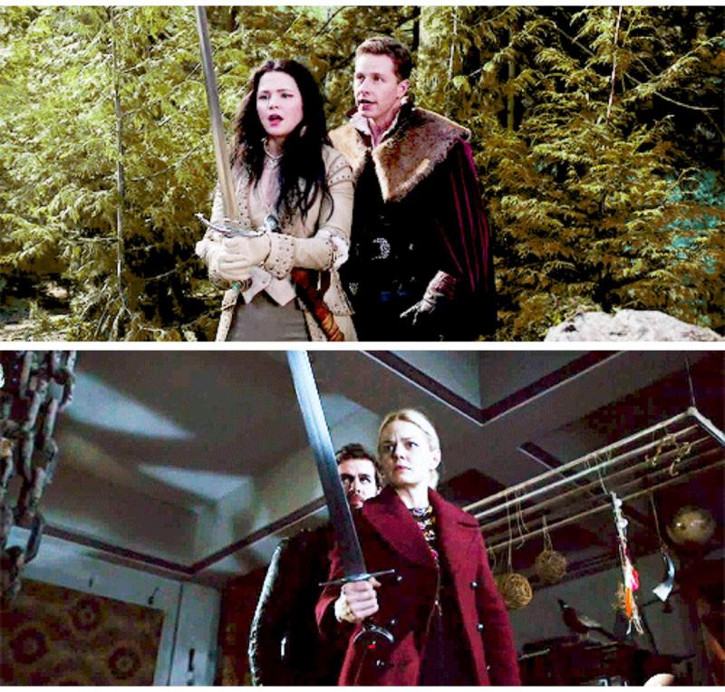 Always love Snowing / Captain Swan parallels!!!