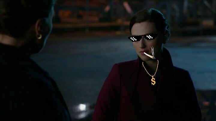 Lena Luthor being like #thuglife