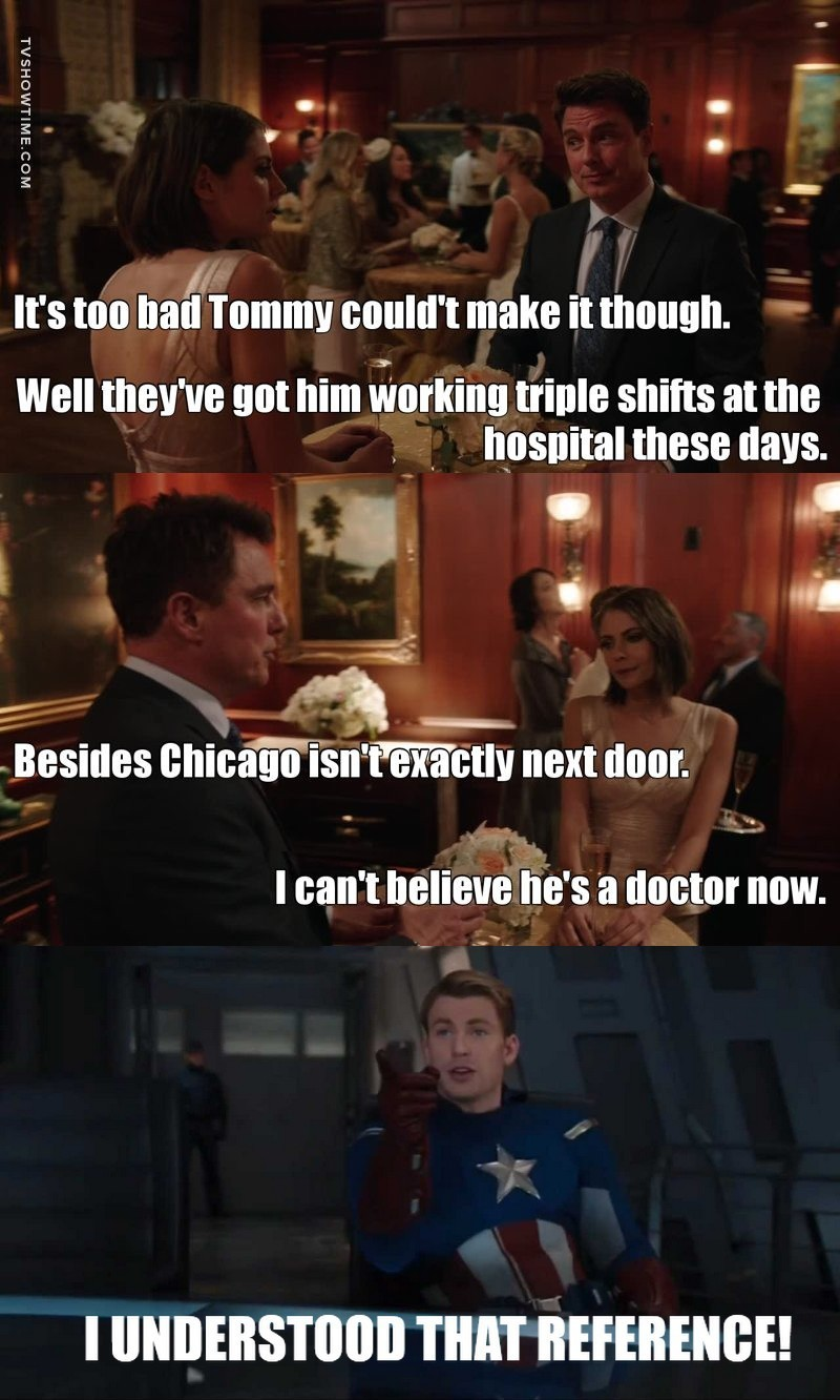 LOVED THE CHICAGO MED REFERENCE! 😉