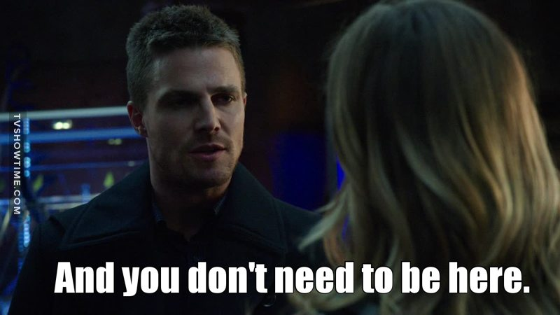 I think Oliver speaks for the fandom!
