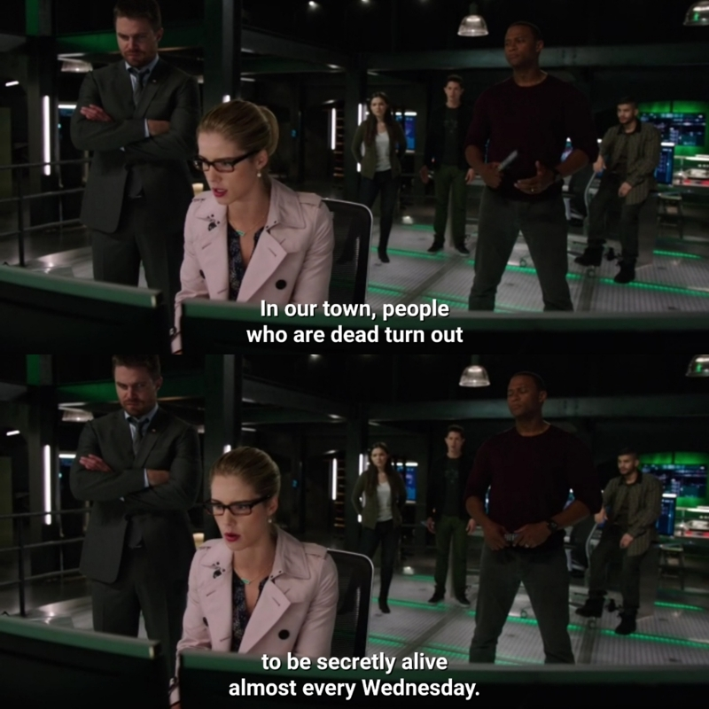 Yes, thank you felicity for reminding us that Arrow airs on Wednesday nights in the US.