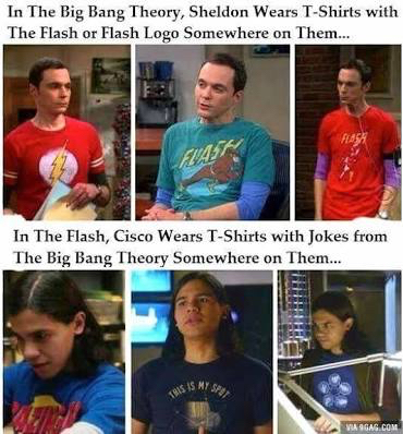 The Flash (Grant Gustin CW Version) should so appear in The Big Bang Theory! Who cares how, make it happen!