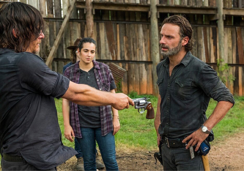 Rick's gun is one of the oldest in the show, welcome back gun !