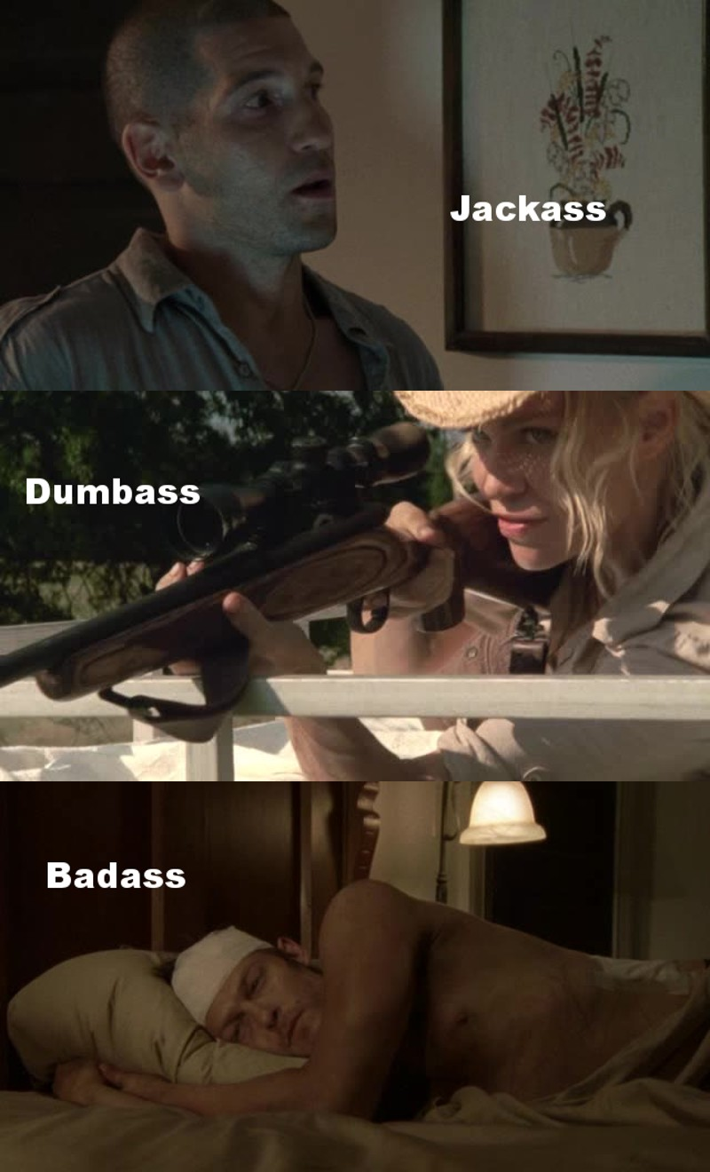 Daryl isn't just every bit as good as the rest, he's way better than most (Shane and Andrea to name a few)