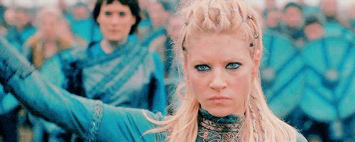 """I'm taking Kattegat back.""  - Lagertha on fire🔥"