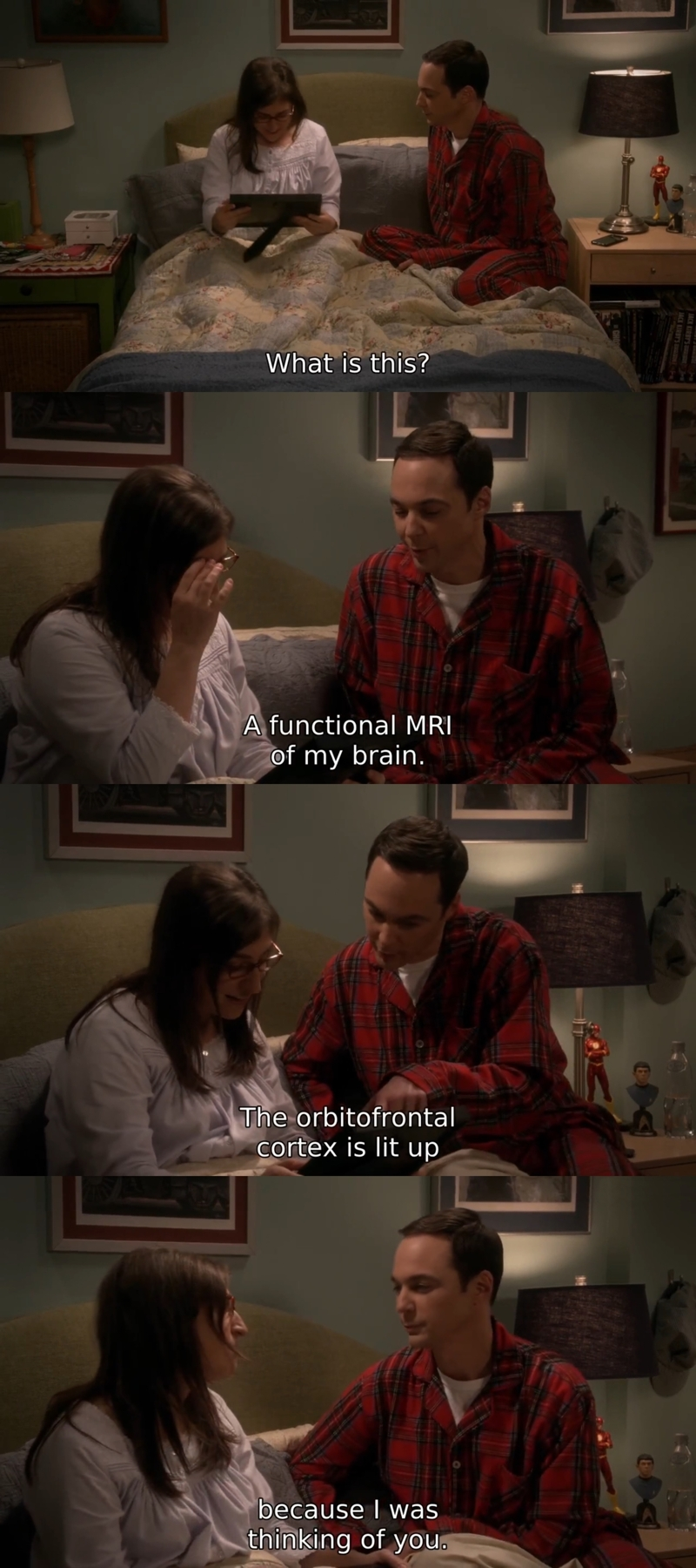 Well, that was romantic... in a Sheldon kind of way 😊