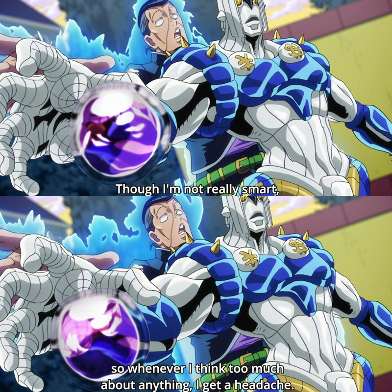 I was so worried about Okuyasu but he's back, stronger (and dumber) than ever !