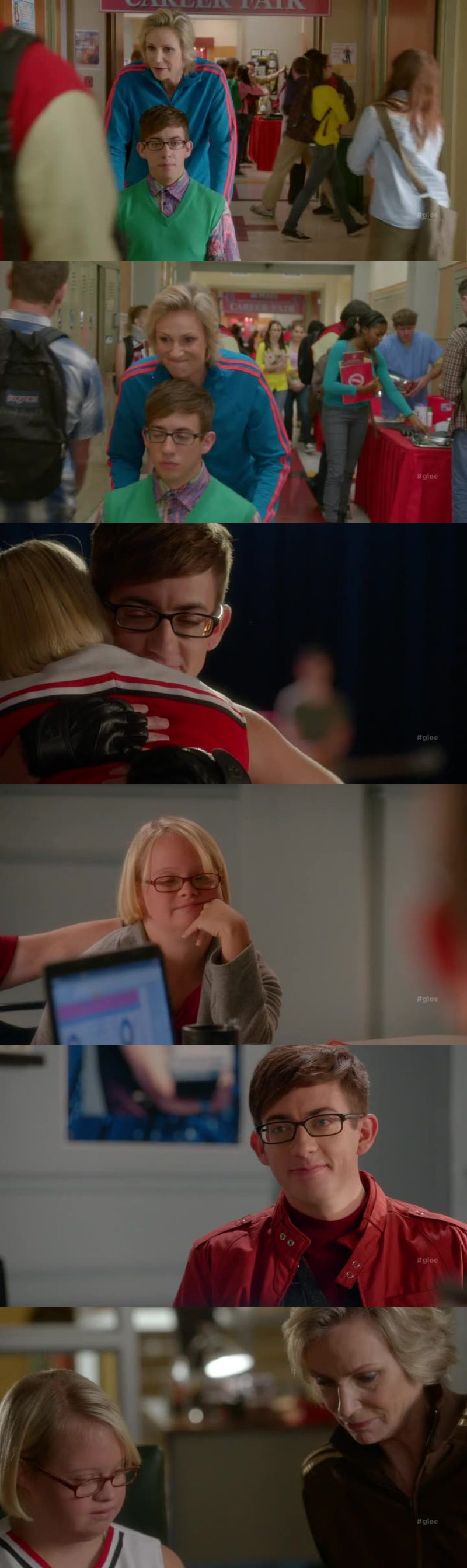 Sue and Artie were so adorable with Becky!! ❤️