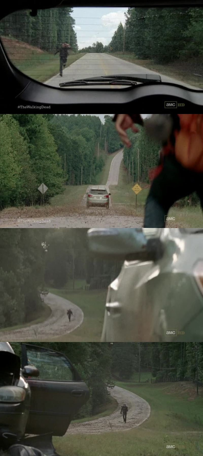 Ça commence vraiment à m'énerver qu'ils n'acceptent plus les gens ainsi. Si Glenn n'avait pas sauvé Rick à Atlanta jamais il n'aurait retrouvé sa famille ! Et pourtant Glenn ne le connaissait pas ! Ils ne laissent même plus une chance à qui que ce soit ! C'était une mort assurée pour ce pauvre type..