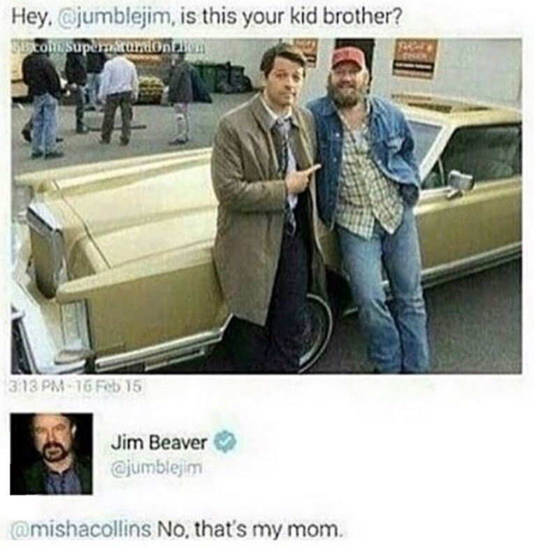 Jim Beaver (Bobby Singer) is just as sassy and amazing as his role😂👌